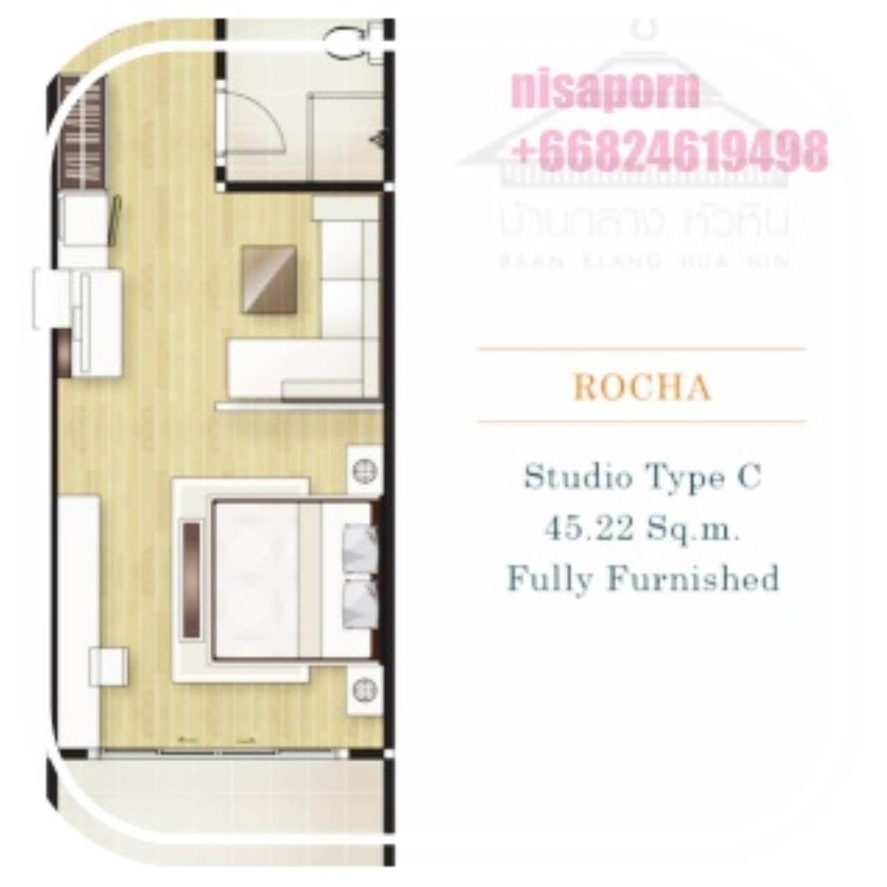 Agent - Yanisa Agency's 1 bedroom condo 45sq.m. price 2.6 M. at Baan Klang HuaHin 8