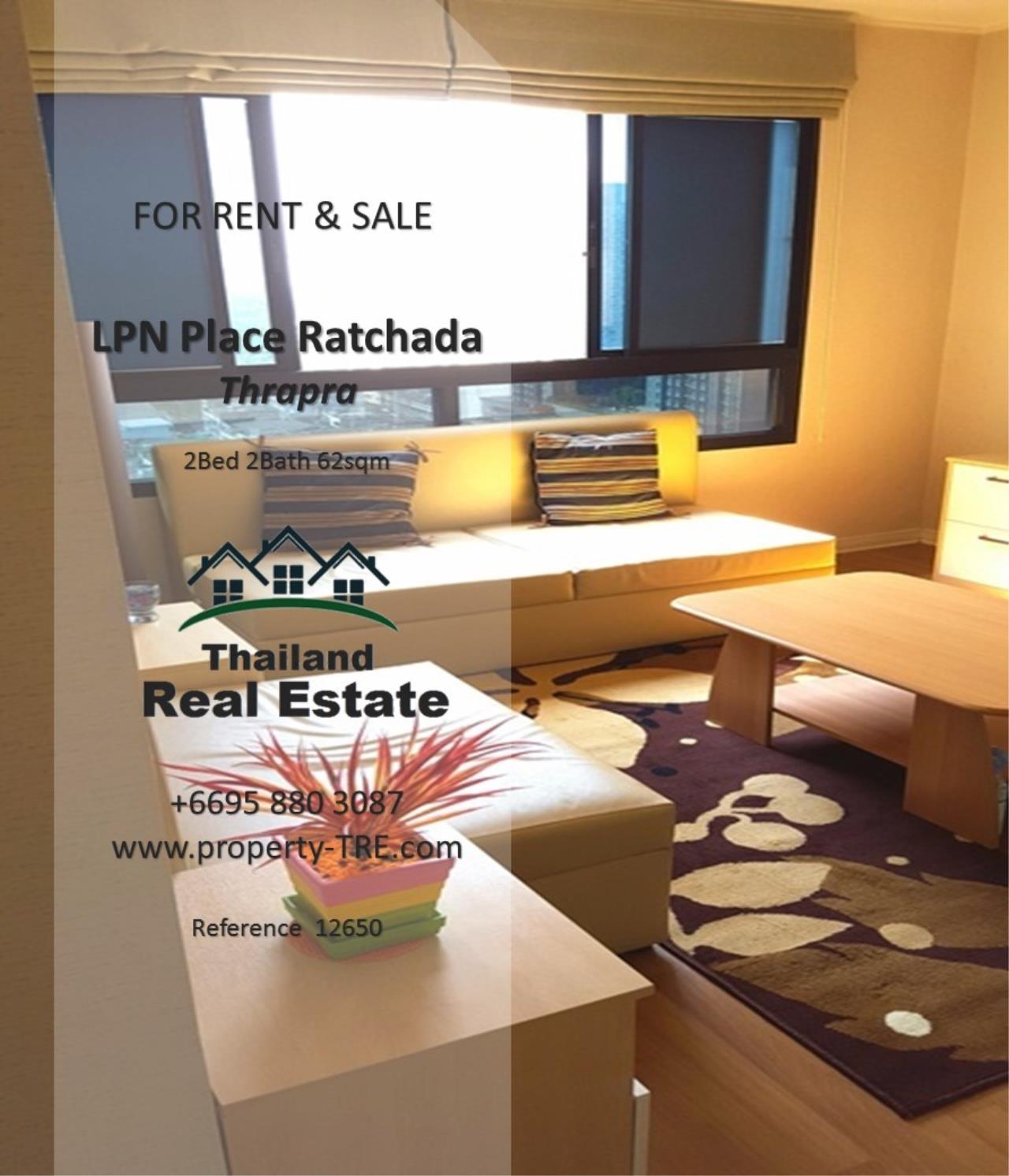 Thailand Real Estate Agency's 2 Bedroom Condo at Lumpini Place near BTS Talat Phlu BTS(12857) 1