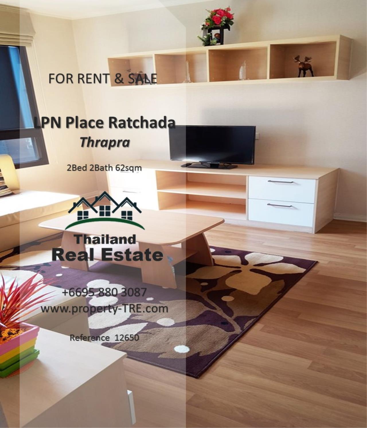 Thailand Real Estate Agency's 2 Bedroom Condo at Lumpini Place near BTS Talat Phlu BTS(12857) 12