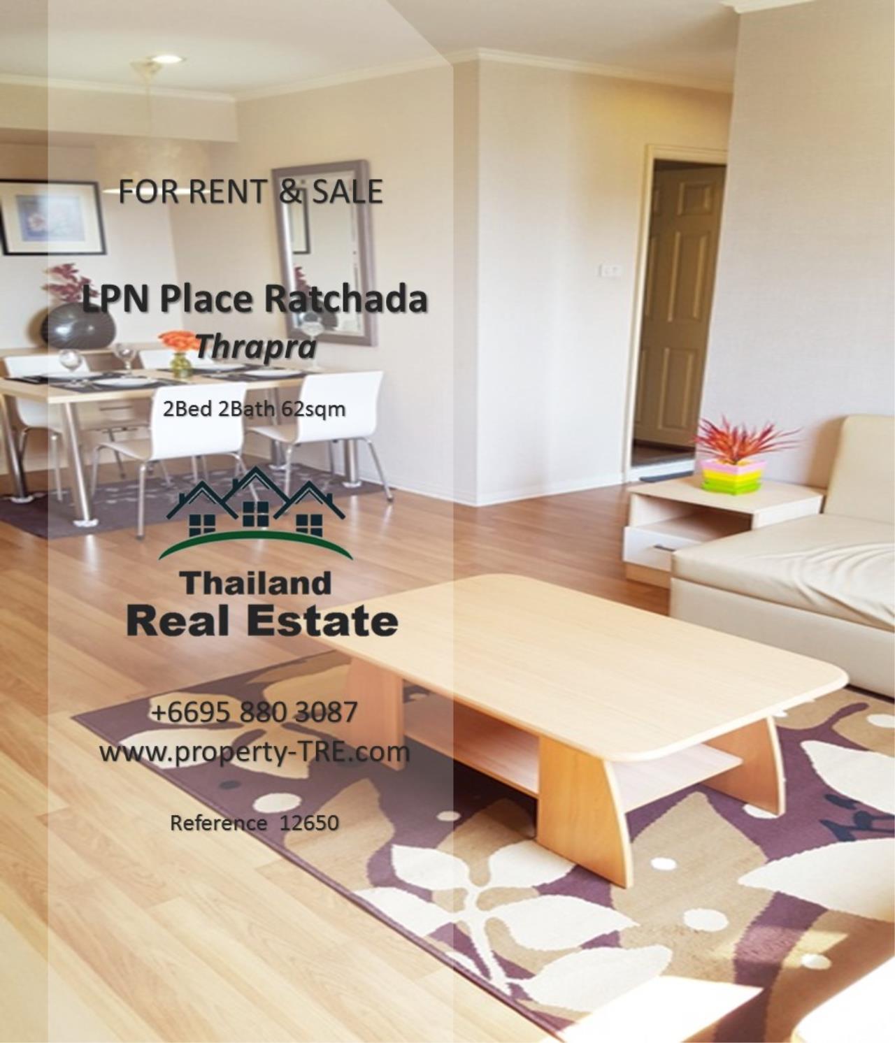 Thailand Real Estate Agency's 2 Bedroom Condo at Lumpini Place near BTS Talat Phlu BTS(12857) 2