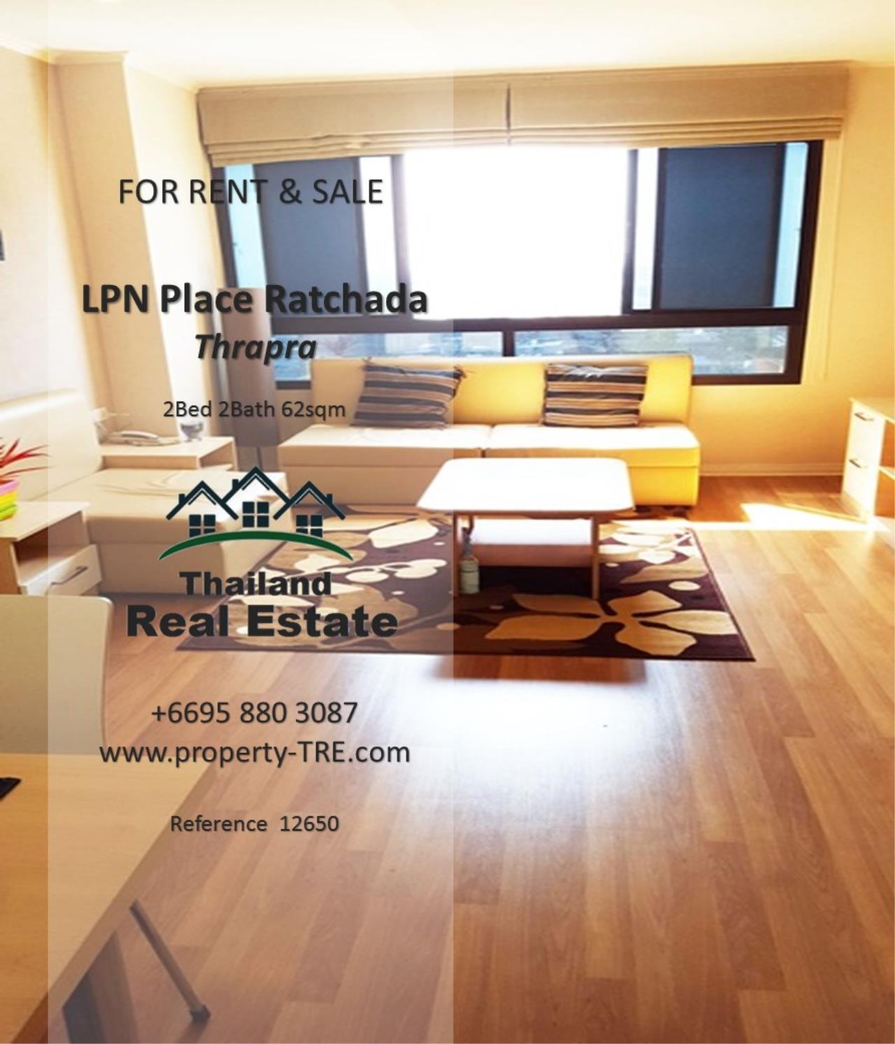 Thailand Real Estate Agency's 2 Bedroom Condo at Lumpini Place near BTS Talat Phlu BTS(12857) 4