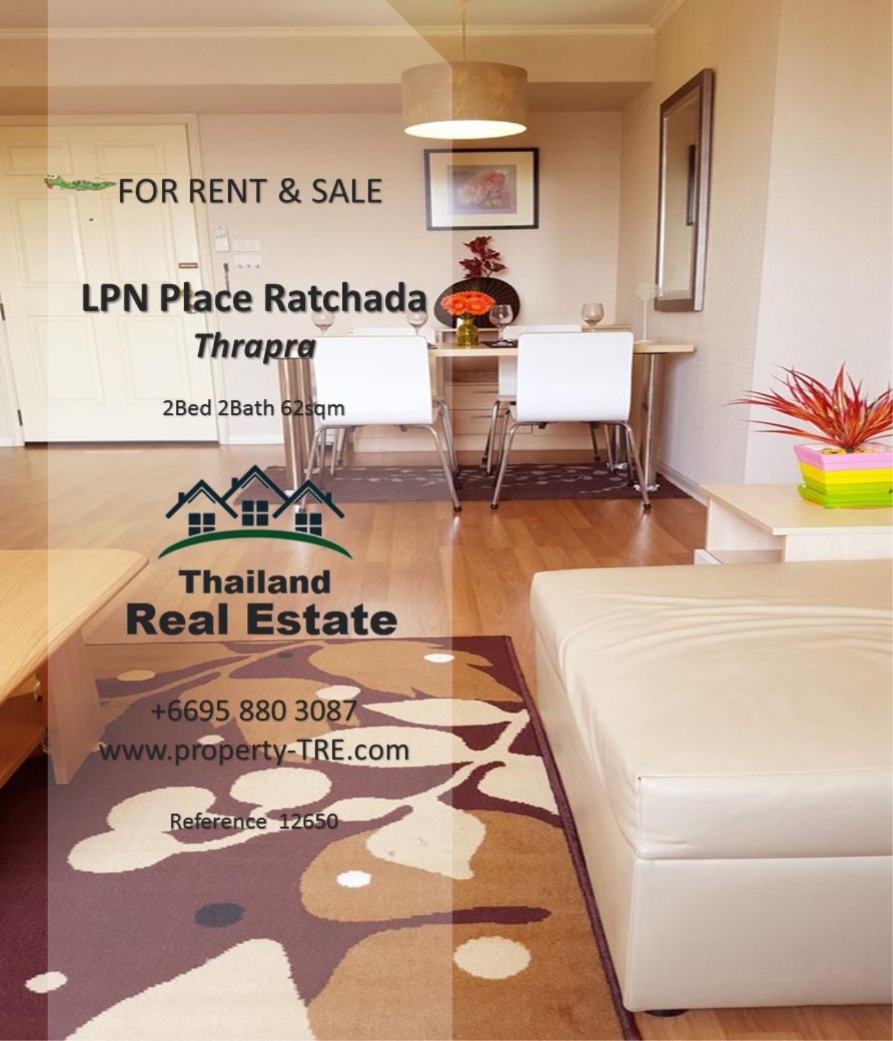 Thailand Real Estate Agency's 2 Bedroom Condo at Lumpini Place near BTS Talat Phlu BTS(12857) 8
