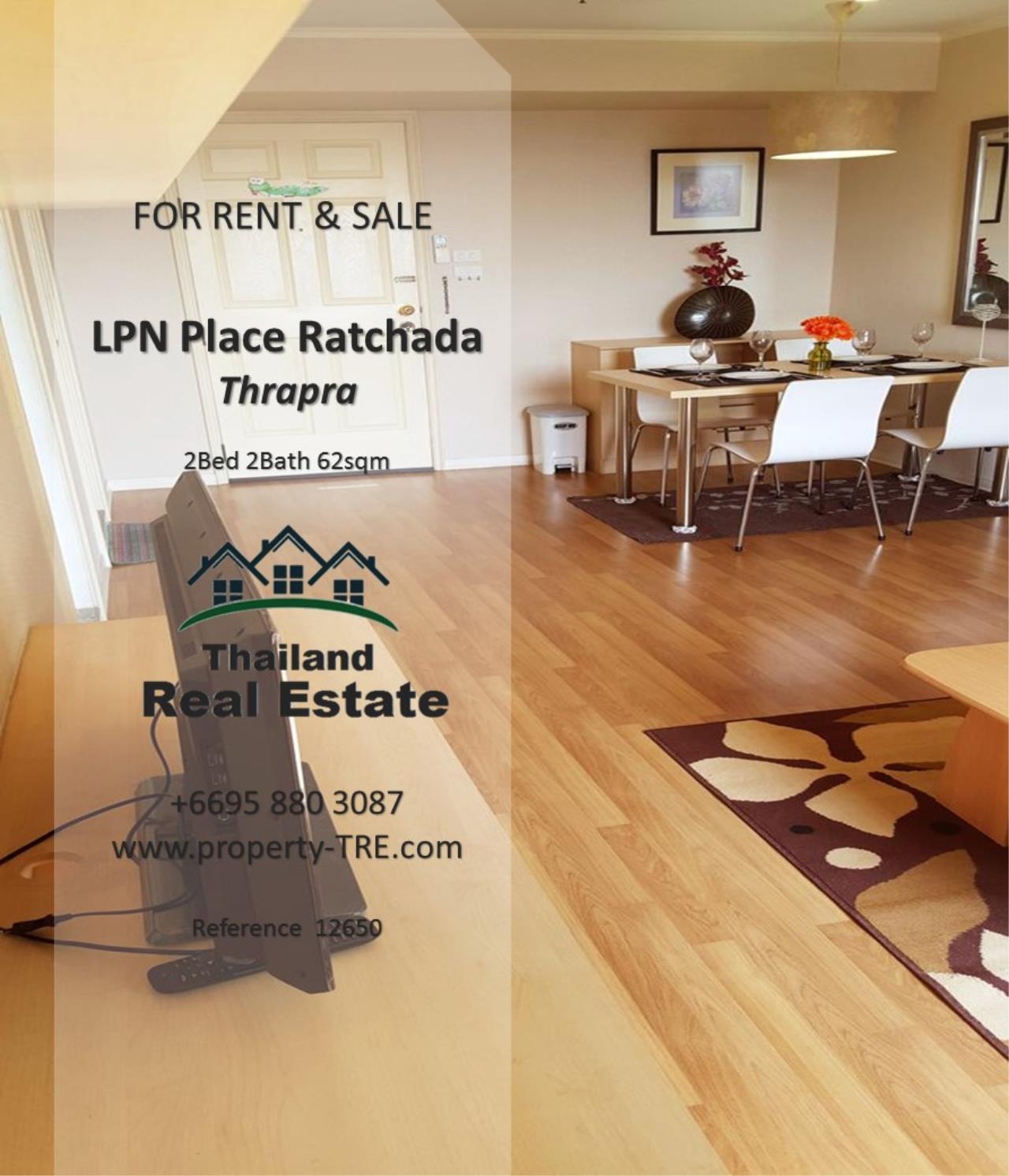 Thailand Real Estate Agency's 2 Bedroom Condo at Lumpini Place near BTS Talat Phlu BTS(12857) 9