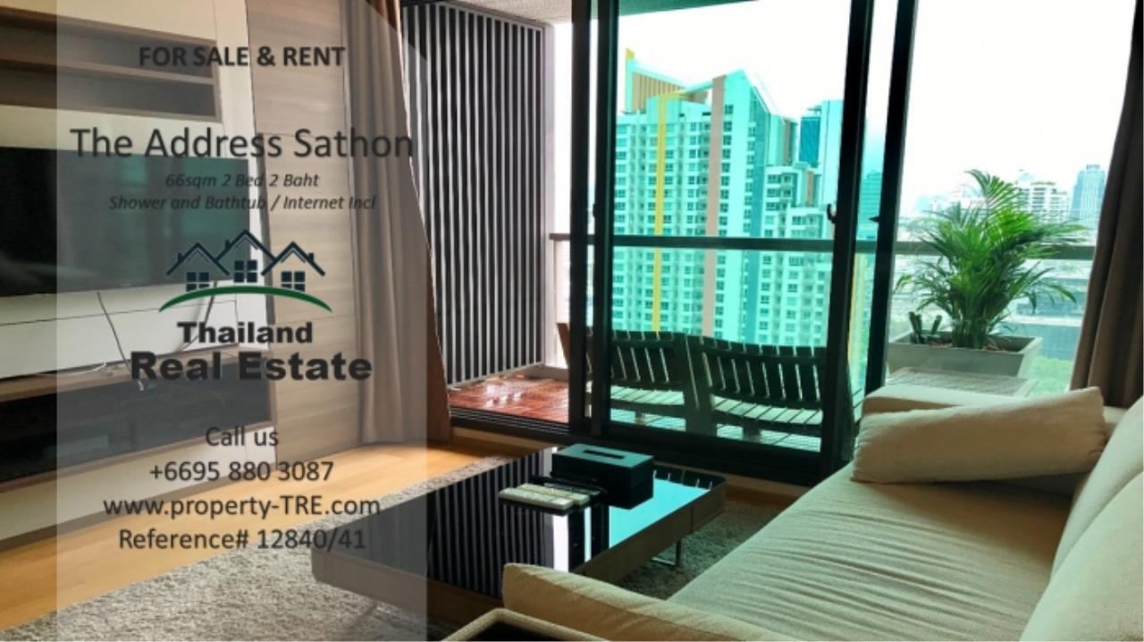 Thailand Real Estate Agency's 2 bed, 2 bath For Sale and Rent | The Address Sathon (Reference 12841) 1