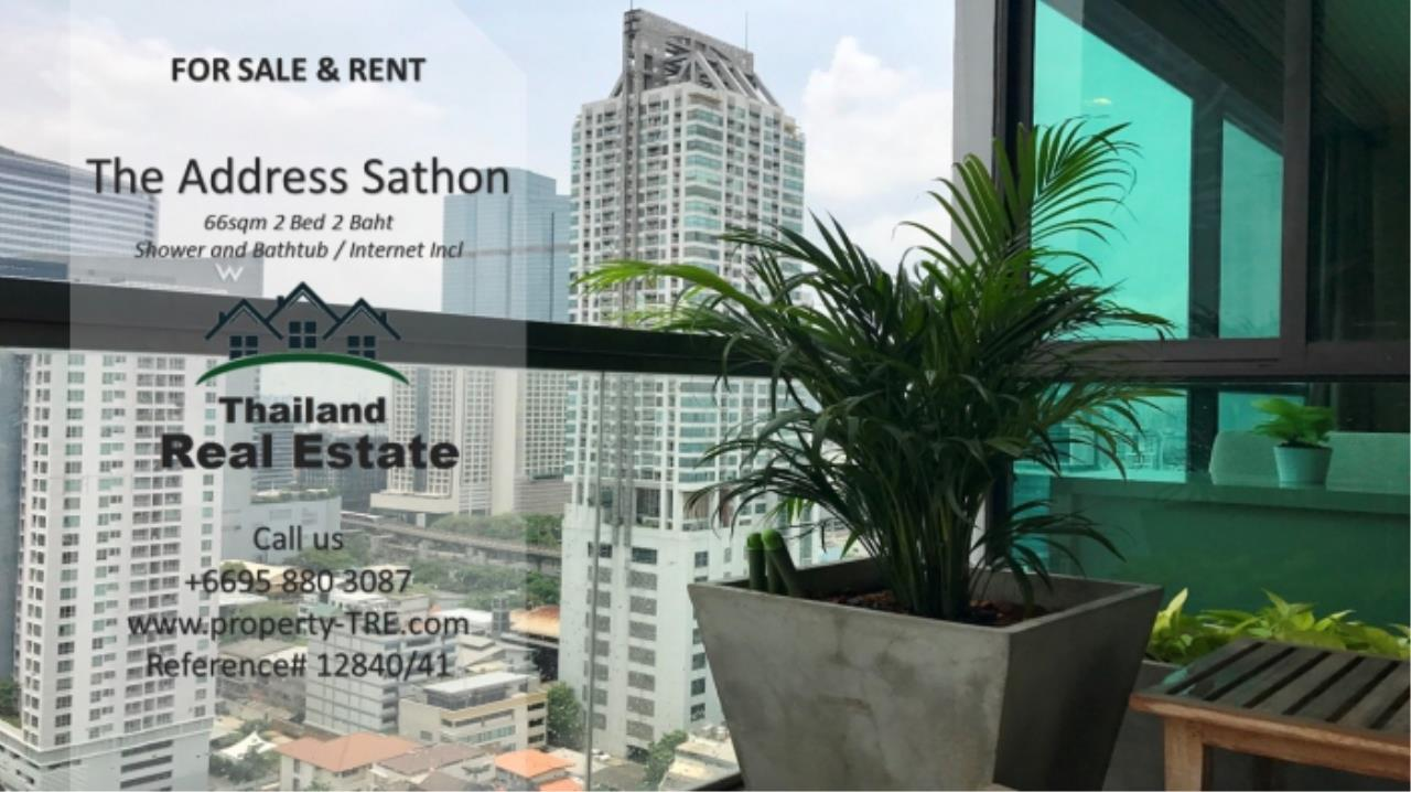 Thailand Real Estate Agency's 2 bed, 2 bath For Sale and Rent | The Address Sathon (Reference 12841) 12