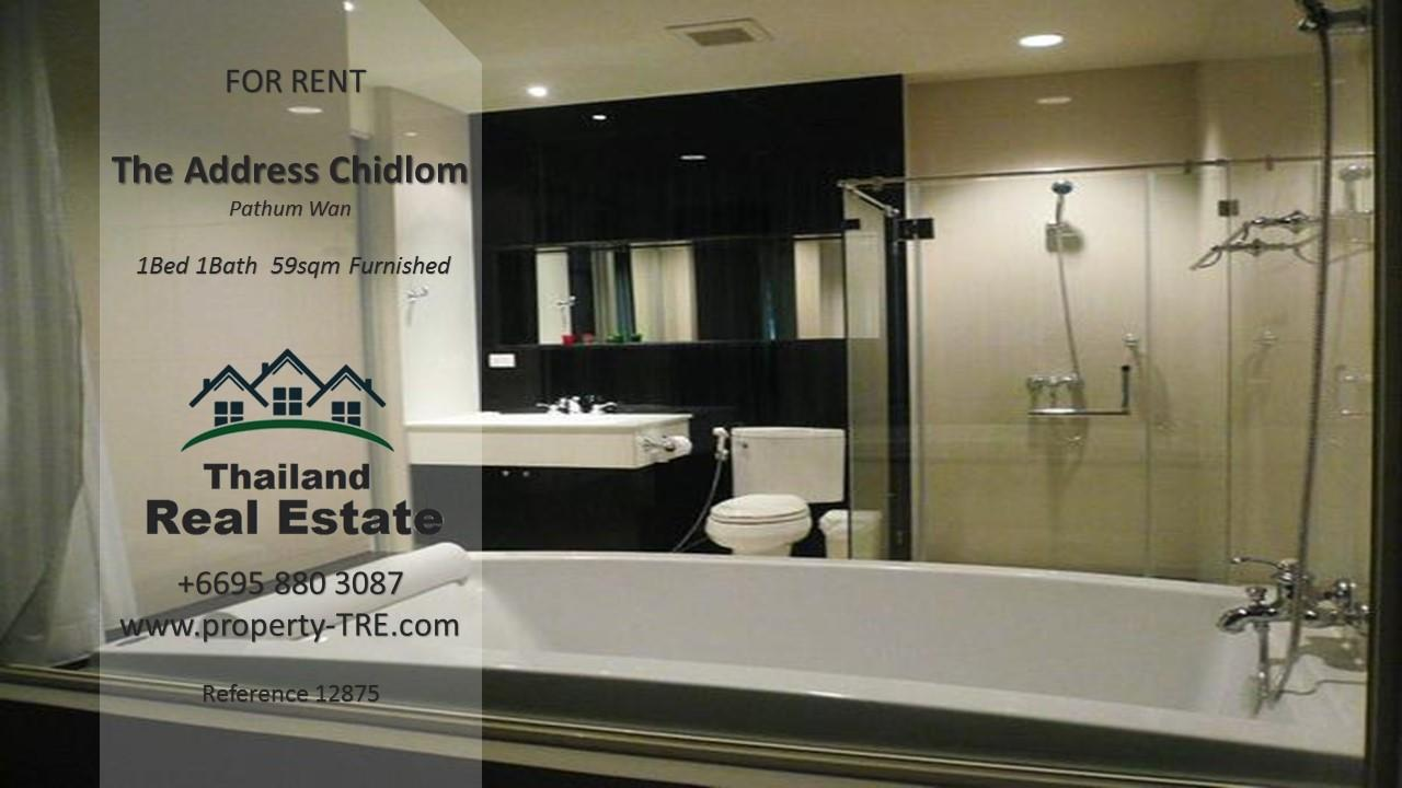 Thailand Real Estate Agency's 1 Bedroom Condo at The Address Chidlom near Chidlom BTS(12875) 4
