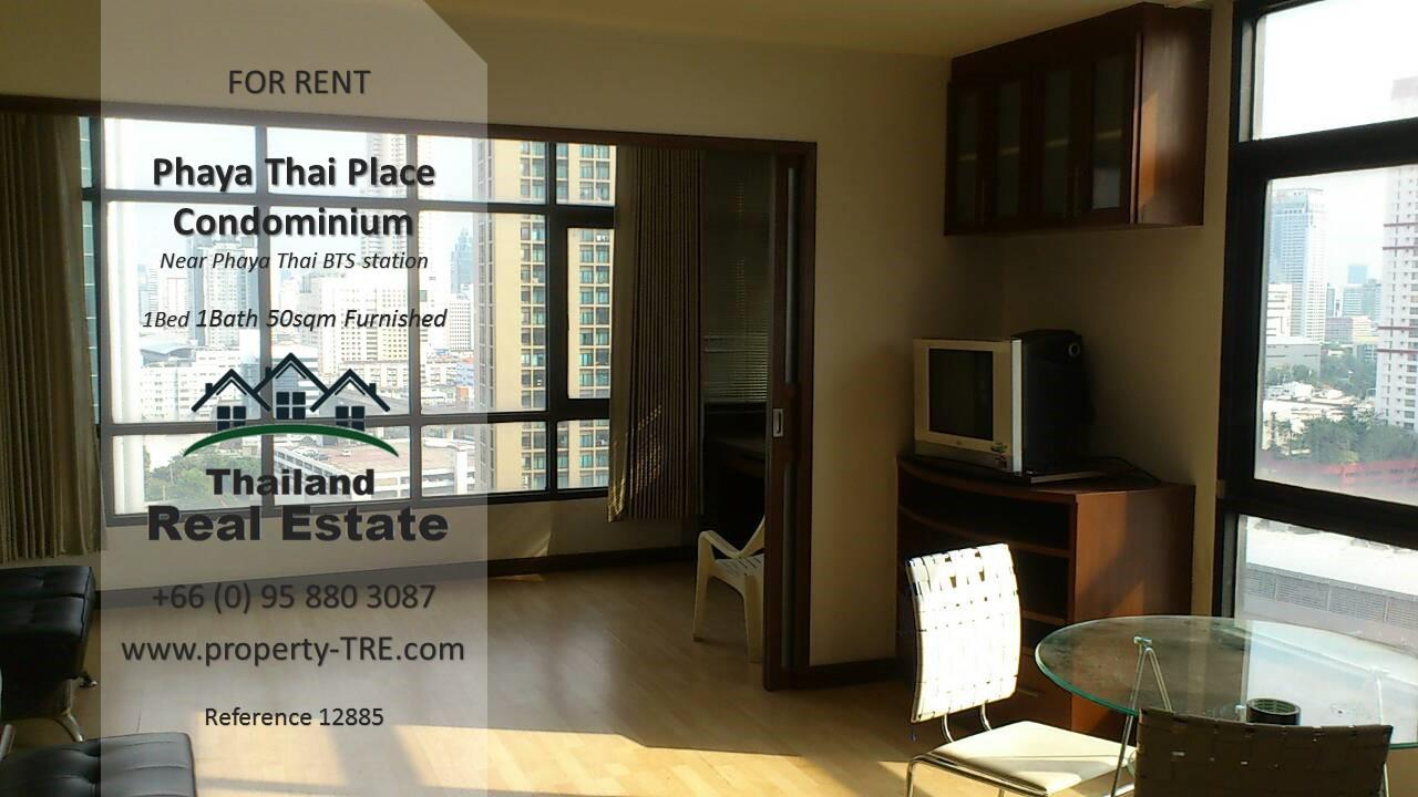Thailand Real Estate Agency's 1 bedroom condo for rent in Phaya Thai Place near BTS Phaya Thai(12885) 1
