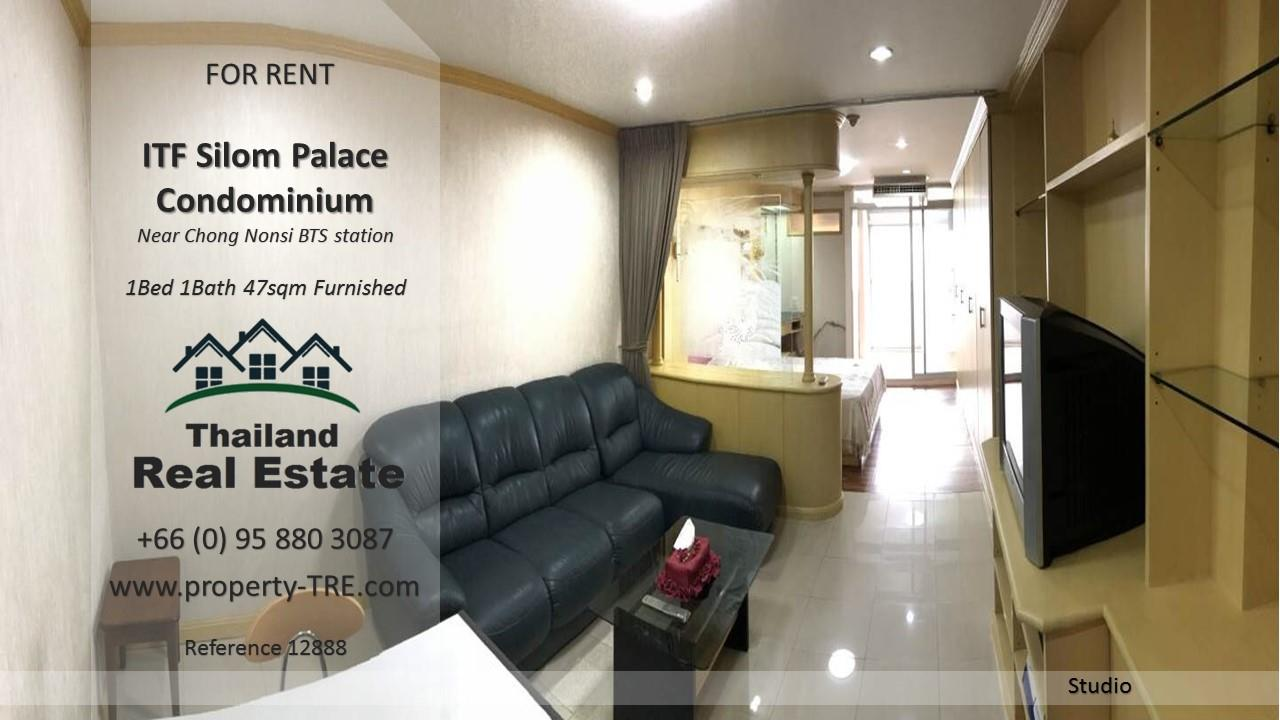 Thailand Real Estate Agency's  Studio for rent in ITF Silom Palace near BTS Chong Nonsi(12888) 1