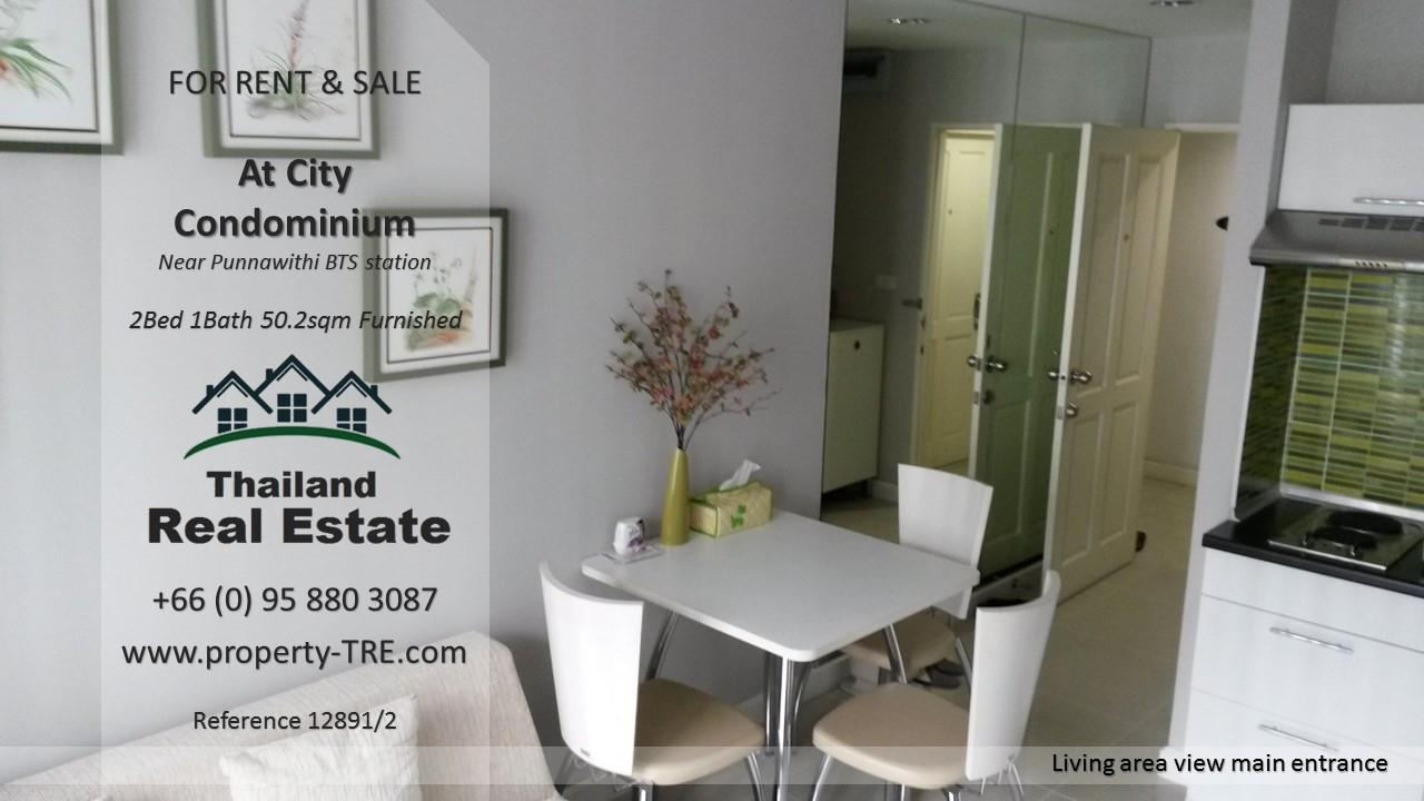 Thailand Real Estate Agency's 2 Bedroom Condo @City near Punnawithi BTS(12891) 2