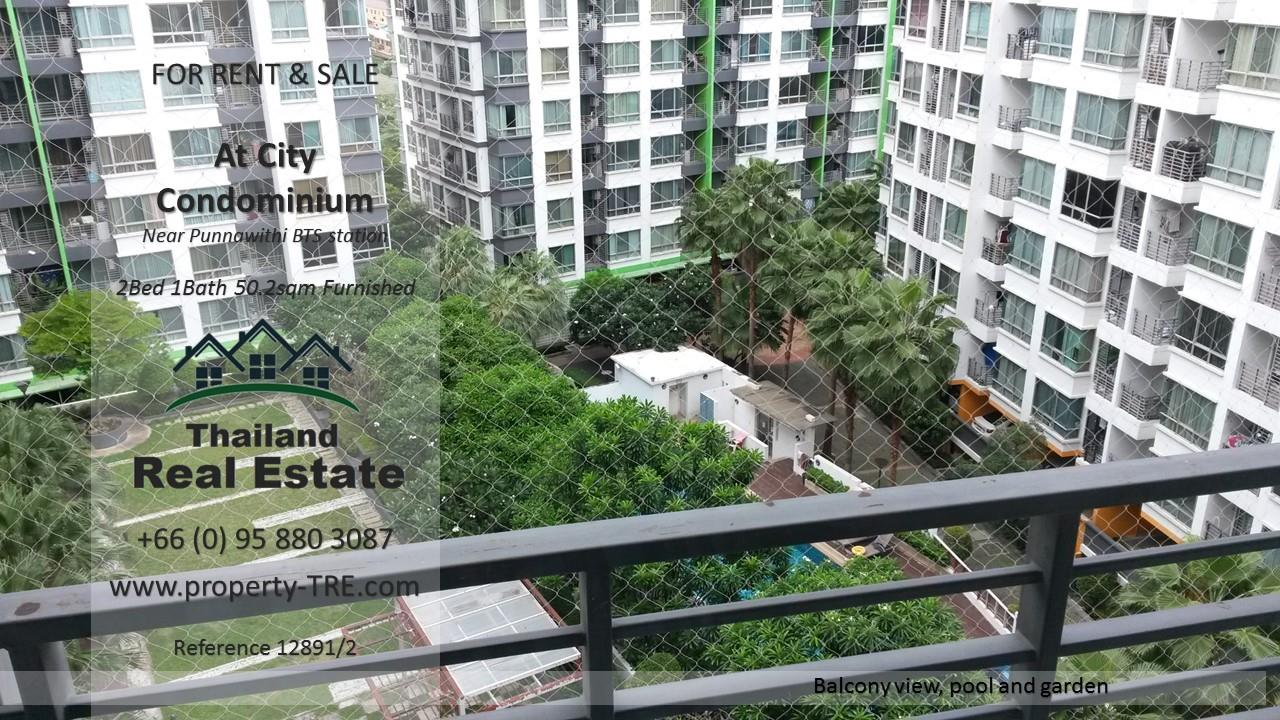 Thailand Real Estate Agency's 2 Bedroom Condo @City near Punnawithi BTS(12891) 5