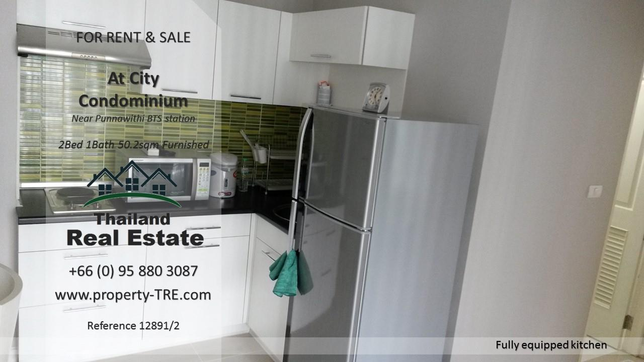 Thailand Real Estate Agency's 2 Bedroom Condo @City near Punnawithi BTS(12891) 6