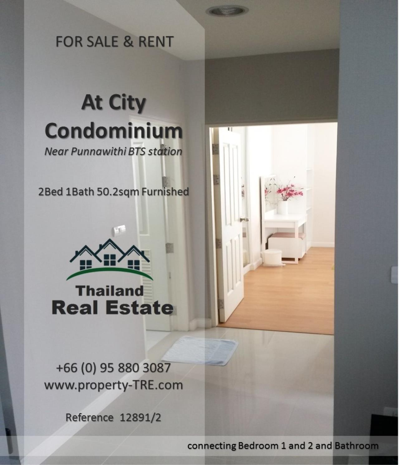 Thailand Real Estate Agency's 2 Bedroom Condo @City near Punnawithi BTS(12891) 7