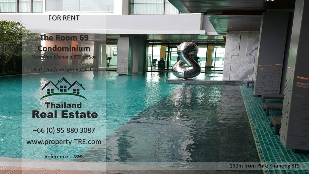 Thailand Real Estate Agency's 1 Bedroom Condo at The Room Sukhumvit 69 near Phra Khanong BTS(12895) 12