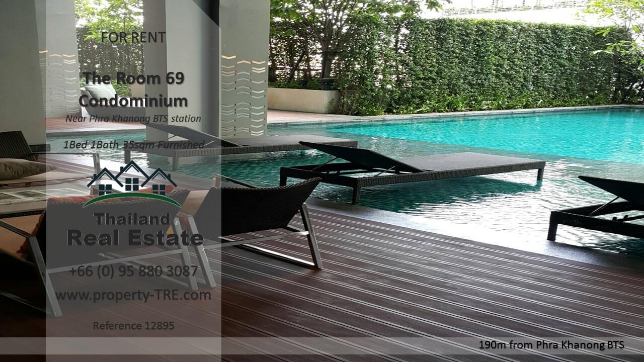 Thailand Real Estate Agency's 1 Bedroom Condo at The Room Sukhumvit 69 near Phra Khanong BTS(12895) 13