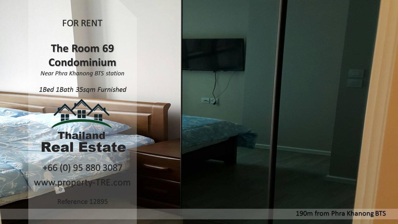 Thailand Real Estate Agency's 1 Bedroom Condo at The Room Sukhumvit 69 near Phra Khanong BTS(12895) 3