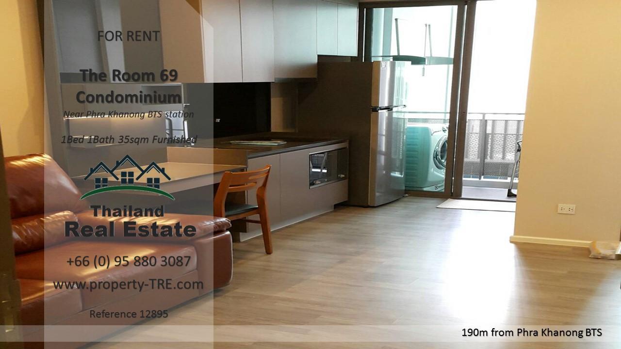 Thailand Real Estate Agency's 1 Bedroom Condo at The Room Sukhumvit 69 near Phra Khanong BTS(12895) 7