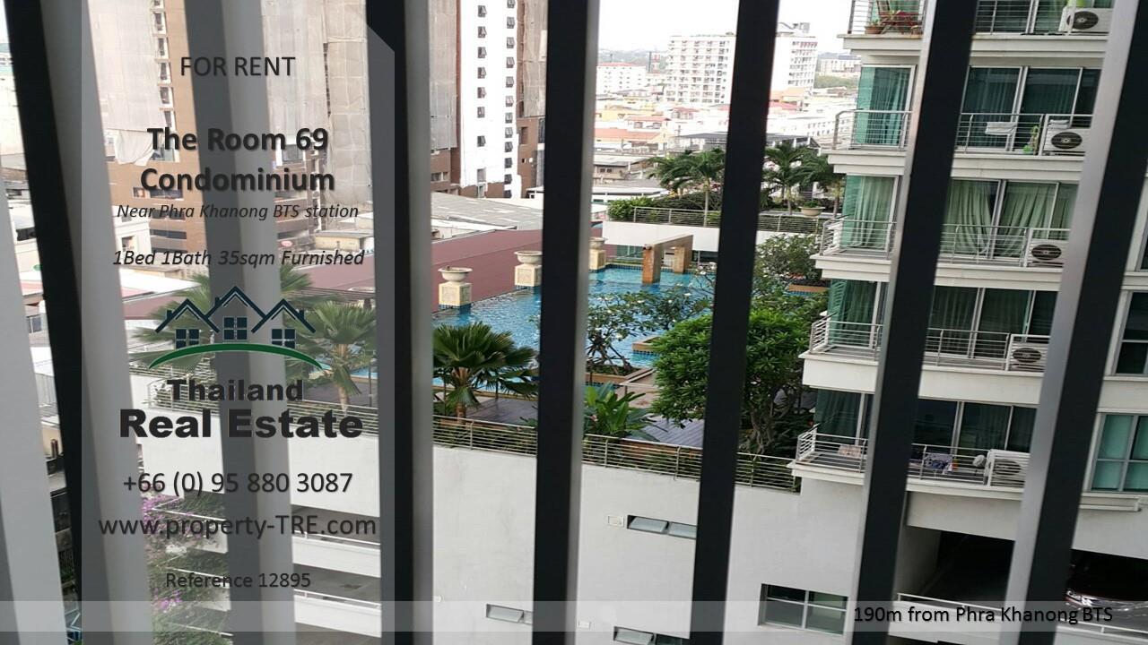 Thailand Real Estate Agency's 1 Bedroom Condo at The Room Sukhumvit 69 near Phra Khanong BTS(12895) 8
