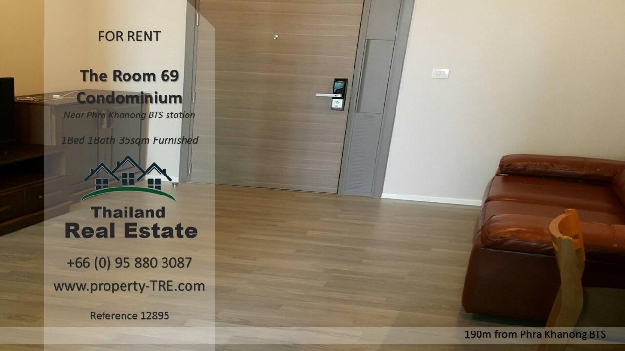 Thailand Real Estate Agency's 1 Bedroom Condo at The Room Sukhumvit 69 near Phra Khanong BTS(12895) 9