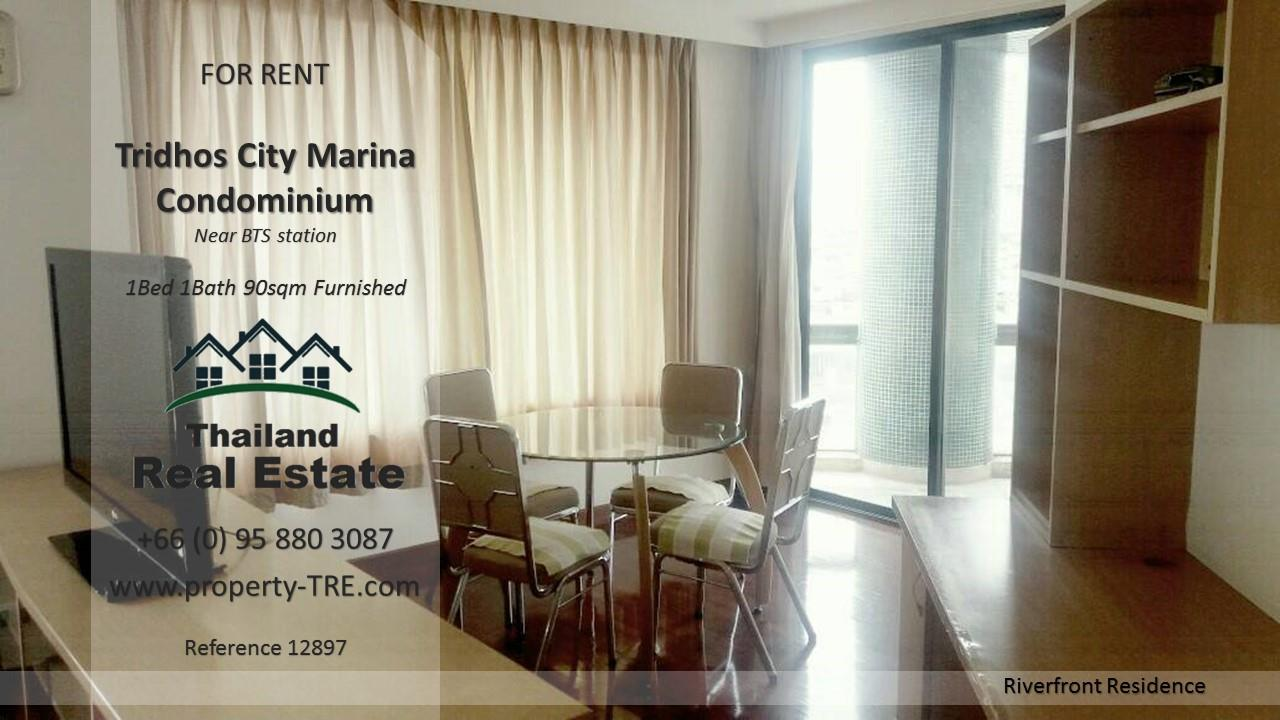 Thailand Real Estate Agency's 1 Bedroom Condo at Tridhos City Marina near 2 BTS Stations(12897) 11
