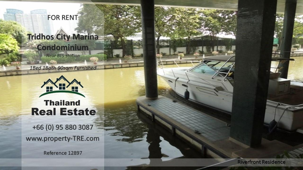Thailand Real Estate Agency's 1 Bedroom Condo at Tridhos City Marina near 2 BTS Stations(12897) 12