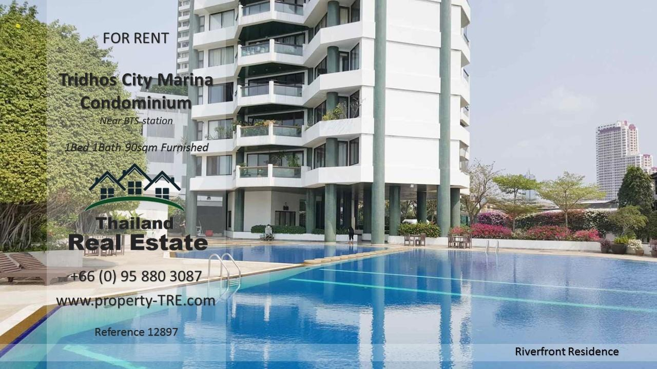 Thailand Real Estate Agency's 1 Bedroom Condo at Tridhos City Marina near 2 BTS Stations(12897) 13