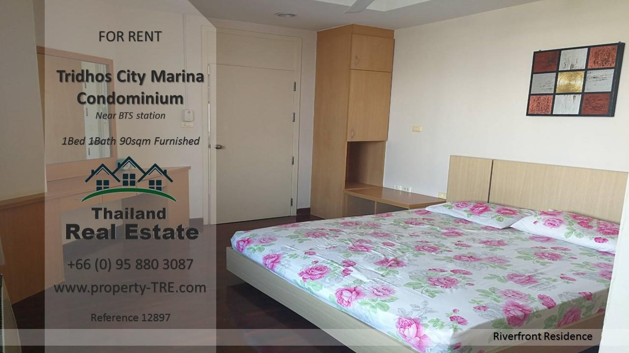 Thailand Real Estate Agency's 1 Bedroom Condo at Tridhos City Marina near 2 BTS Stations(12897) 3