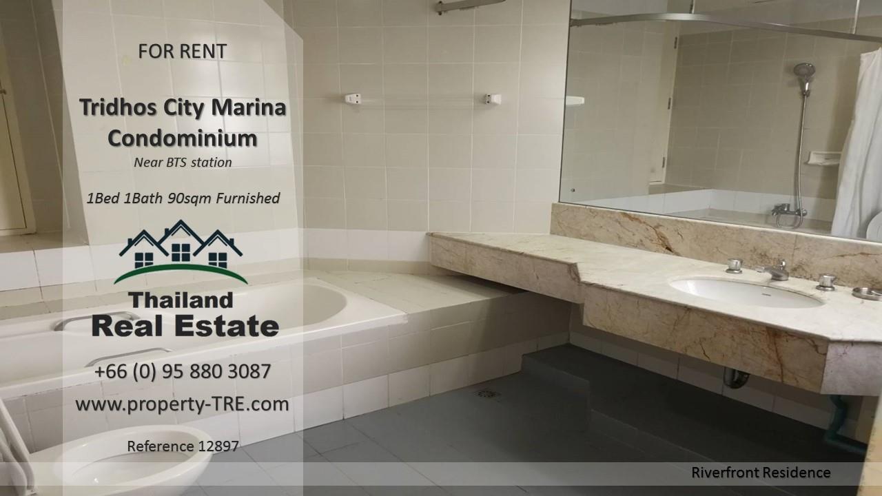 Thailand Real Estate Agency's 1 Bedroom Condo at Tridhos City Marina near 2 BTS Stations(12897) 5