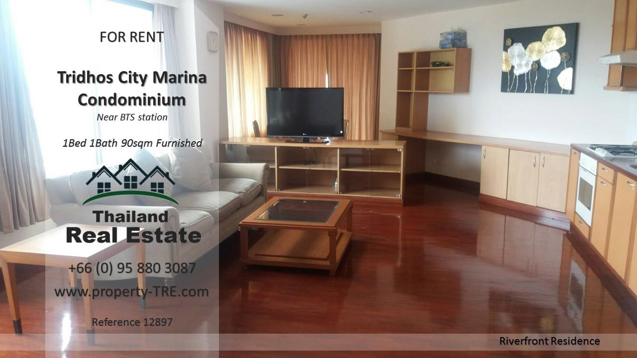 Thailand Real Estate Agency's 1 Bedroom Condo at Tridhos City Marina near 2 BTS Stations(12897) 8