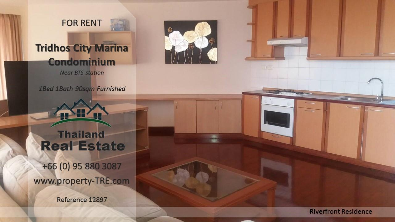 Thailand Real Estate Agency's 1 Bedroom Condo at Tridhos City Marina near 2 BTS Stations(12897) 9