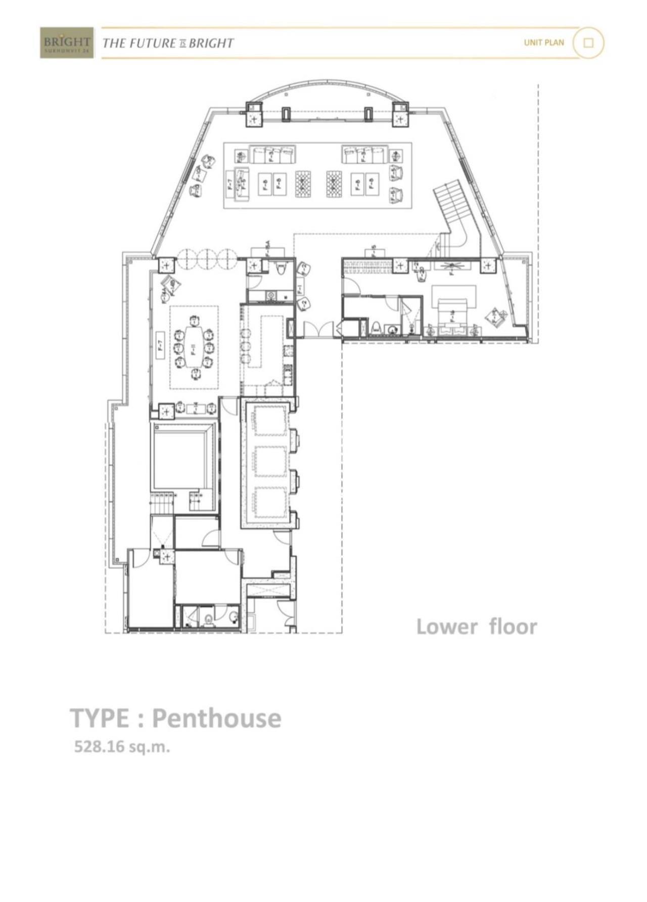 Thai EZ Agency's Luxury Penthouse Duplex for sale THB 120,000,000 Bright Sukhumvit 24 12
