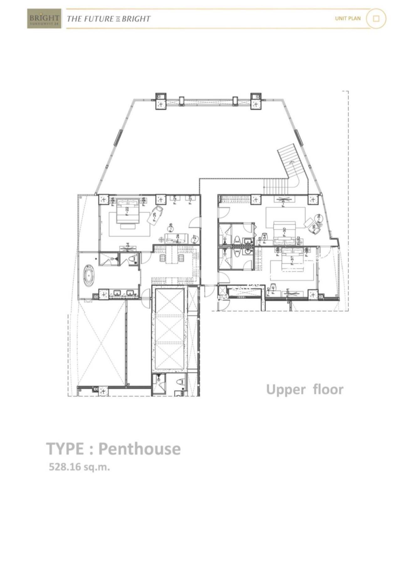Thai EZ Agency's Luxury Penthouse Duplex for sale THB 120,000,000 Bright Sukhumvit 24 13
