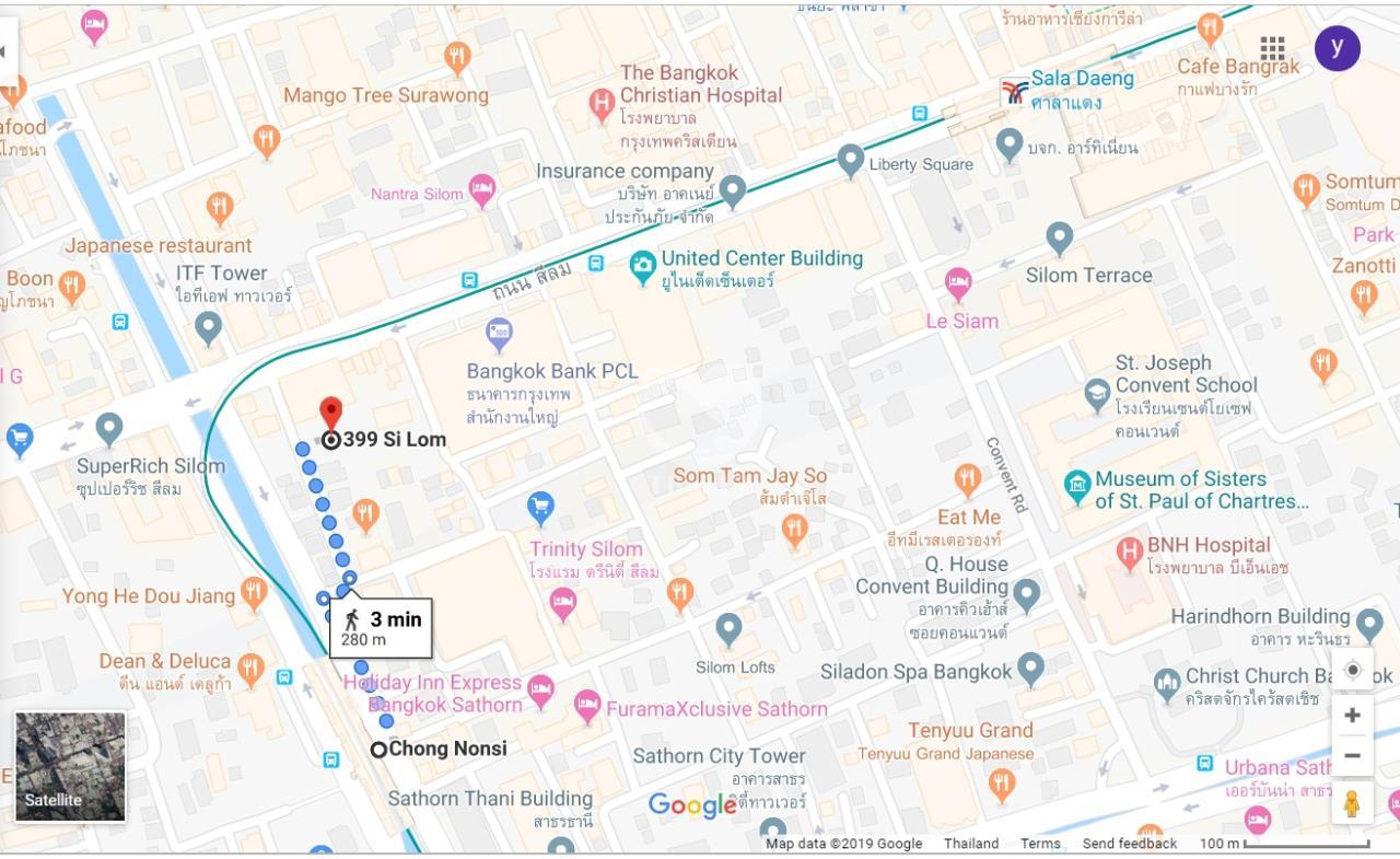 Thai EZ Agency's Land with commercial building on Silom Road 6