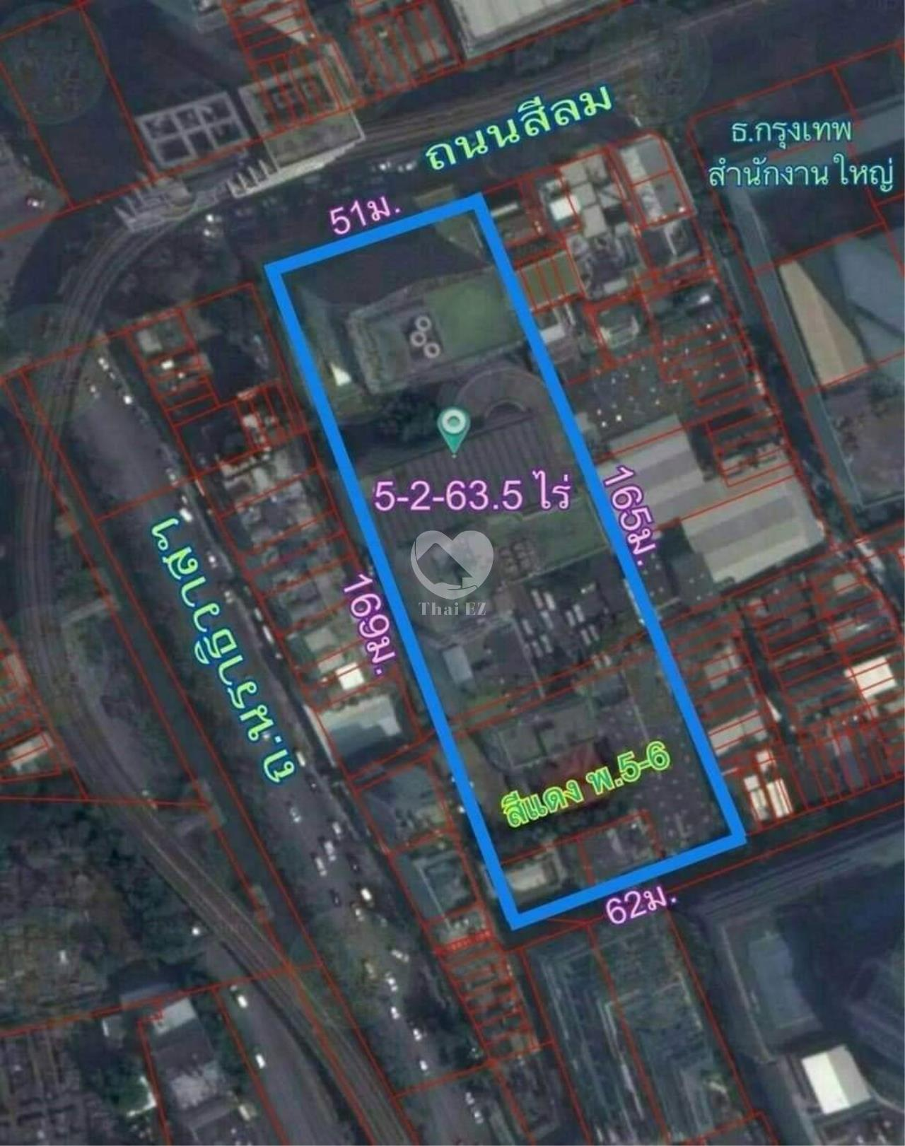 Thai EZ Agency's Land with commercial building on Silom Road 1