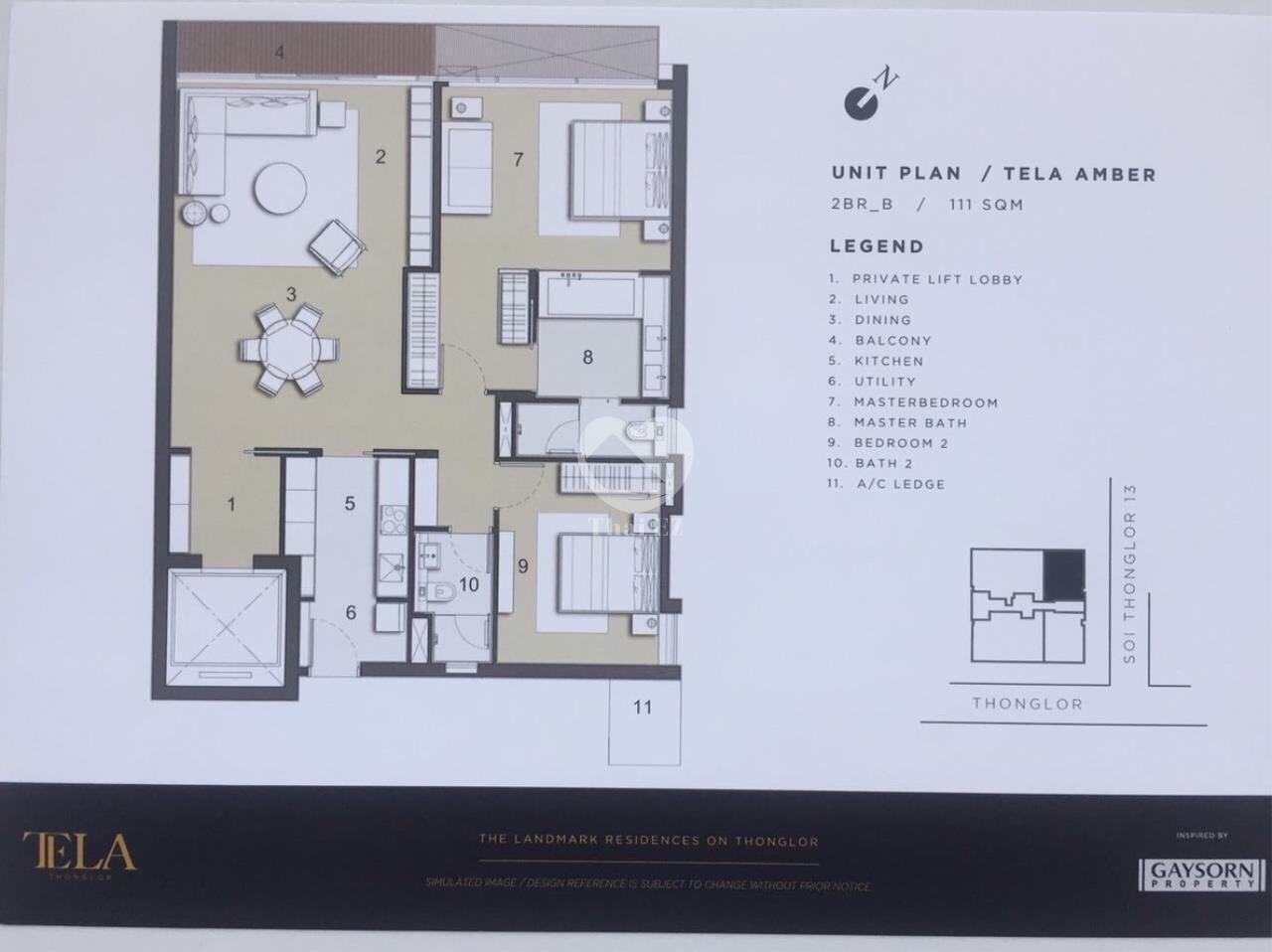 Thai EZ Agency's Luxury Condo - Sell 2 Bed 2 Bath Tela Thonglor 111 sqm. 5