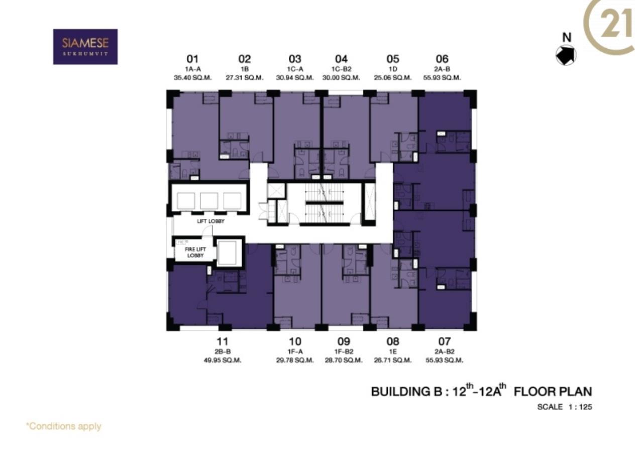Century21 Skylux Agency's Siamese Sukhumvit / Condo For Sale / 1 Bedroom / 44.39 SQM / BTS On Nut / Bangkok 7