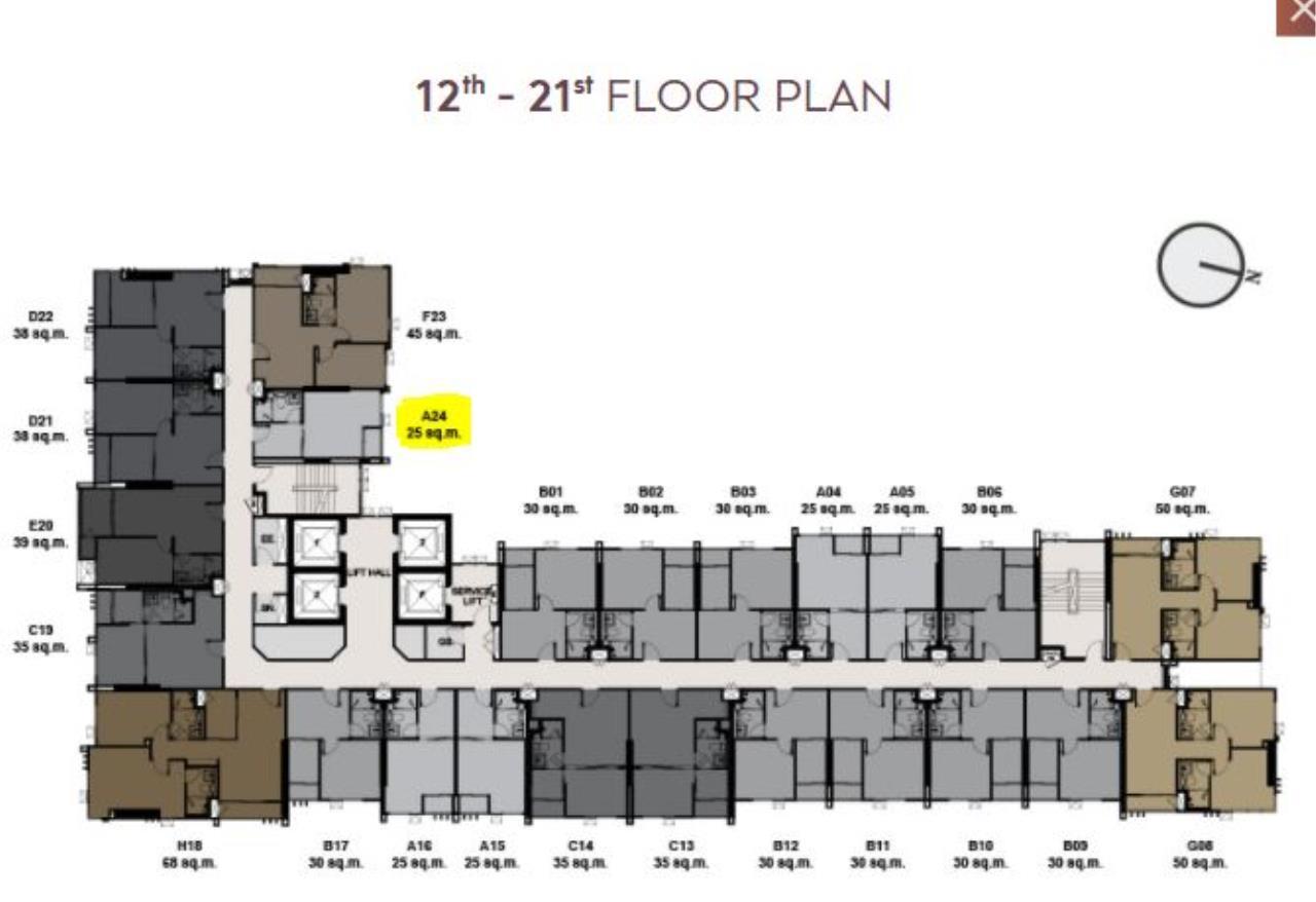 Century21 Skylux Agency's Life Sukhumvit 62 / Condo For Sale / 1 Bedroom / 25 SQM / BTS Bang Chak / Bangkok 7