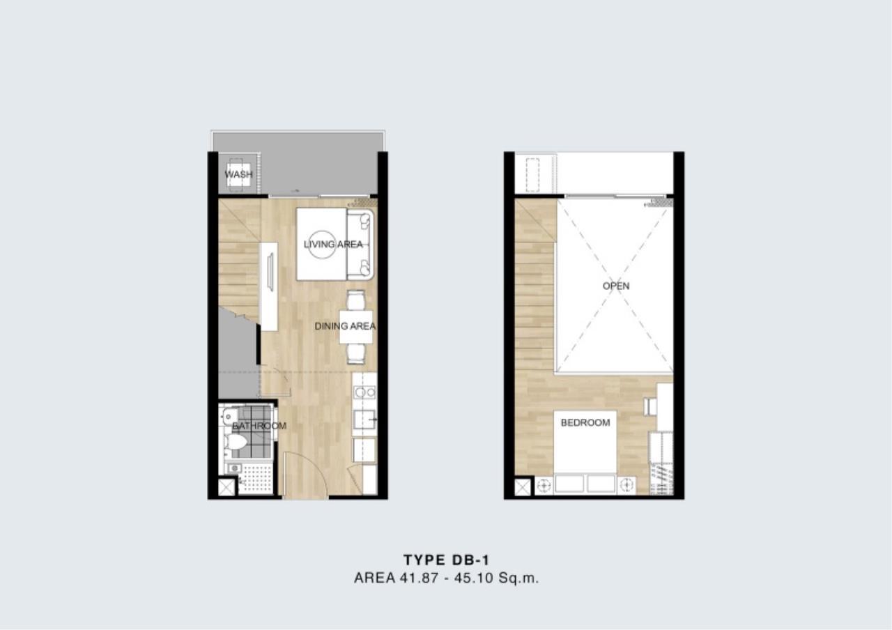 Century21 Skylux Agency's Blossom Condo @ Sathorn-Charoenrat / Condo For Sale / 1 Bedroom / 46.91 SQM / BTS Surasak / Bangkok 4