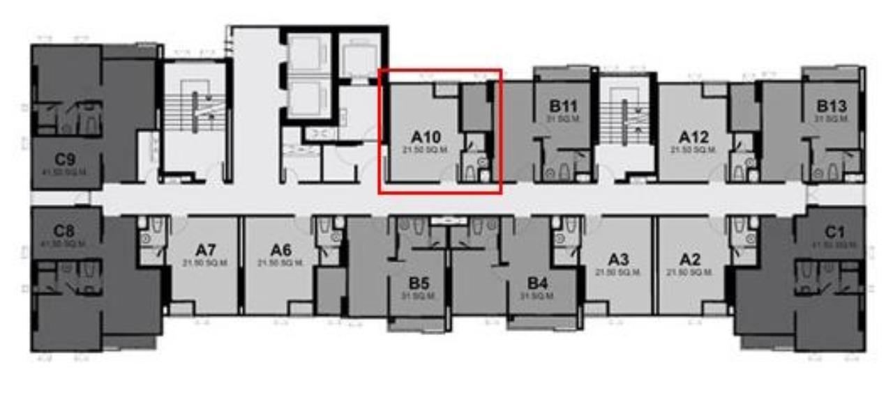 Century21 Skylux Agency's Rhythm Asoke / Condo For Sale / 1 Bedroom / 21.5 SQM / MRT Phra Ram 9 / Bangkok 10