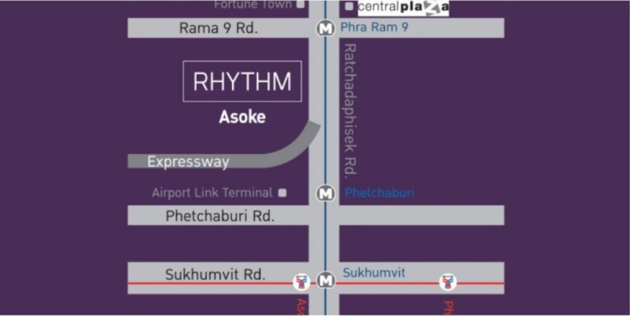 Century21 Skylux Agency's Rhythm Asoke / Condo For Sale / 1 Bedroom / 21.5 SQM / MRT Phra Ram 9 / Bangkok 15
