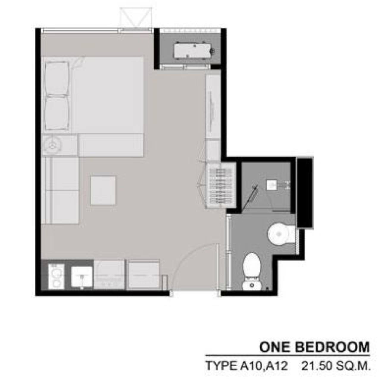 Century21 Skylux Agency's Rhythm Asoke / Condo For Sale / 1 Bedroom / 21.5 SQM / MRT Phra Ram 9 / Bangkok 9