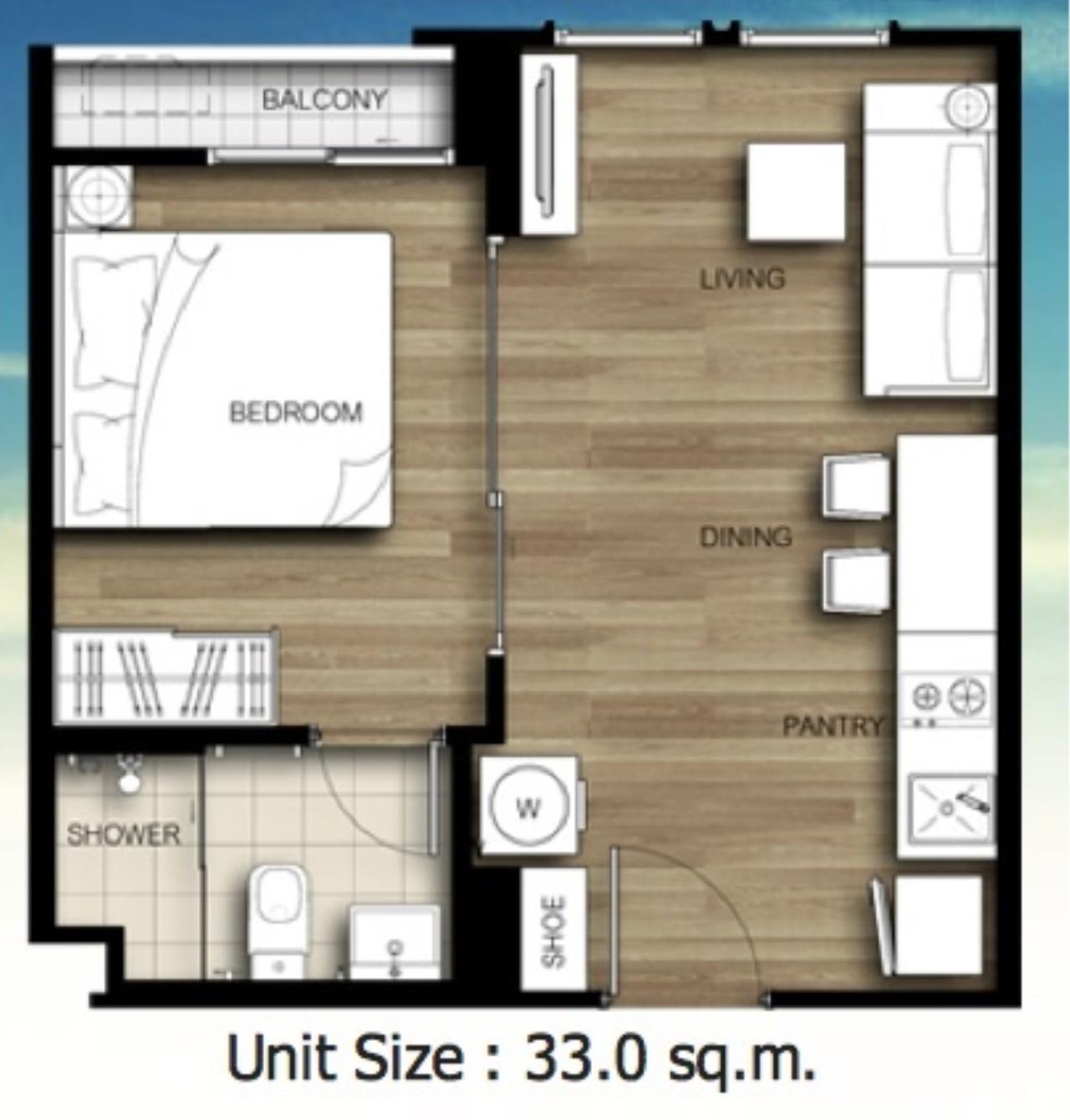 Century21 Skylux Agency's The Key Sathorn-Ratchapruek / Condo For Sale / 1 Bedroom / 32 SQM / BTS Wutthakat / Bangkok 6