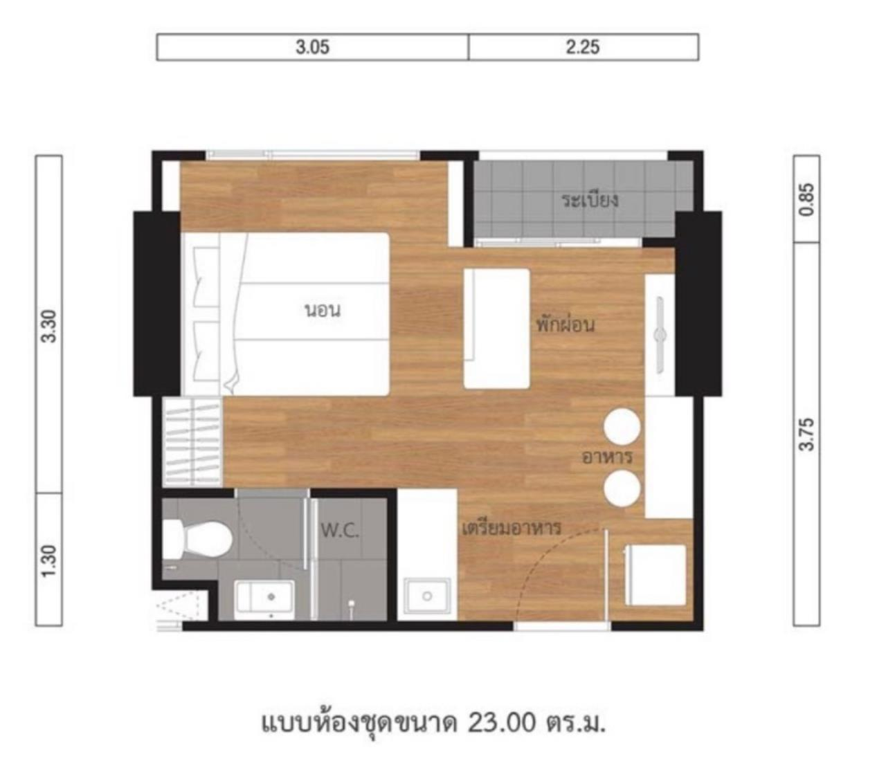Century21 Skylux Agency's Lumpini Suite Phetchaburi-Makkasan / Condo For Sale / 1 Bedroom / 23 SQM / MRT Phetchaburi / Bangkok 5