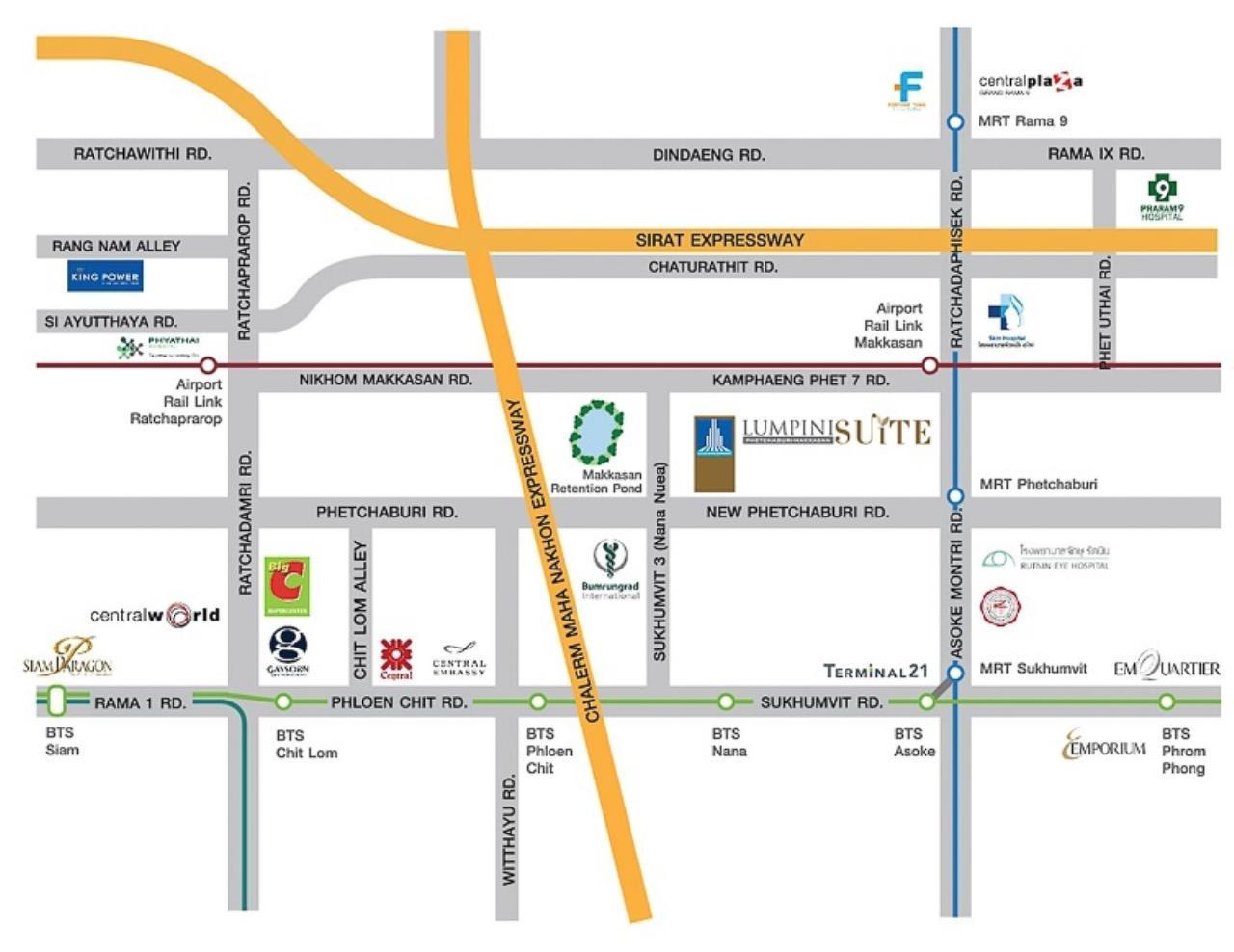 Century21 Skylux Agency's Lumpini Suite Phetchaburi-Makkasan / Condo For Sale / 1 Bedroom / 23 SQM / MRT Phetchaburi / Bangkok 13