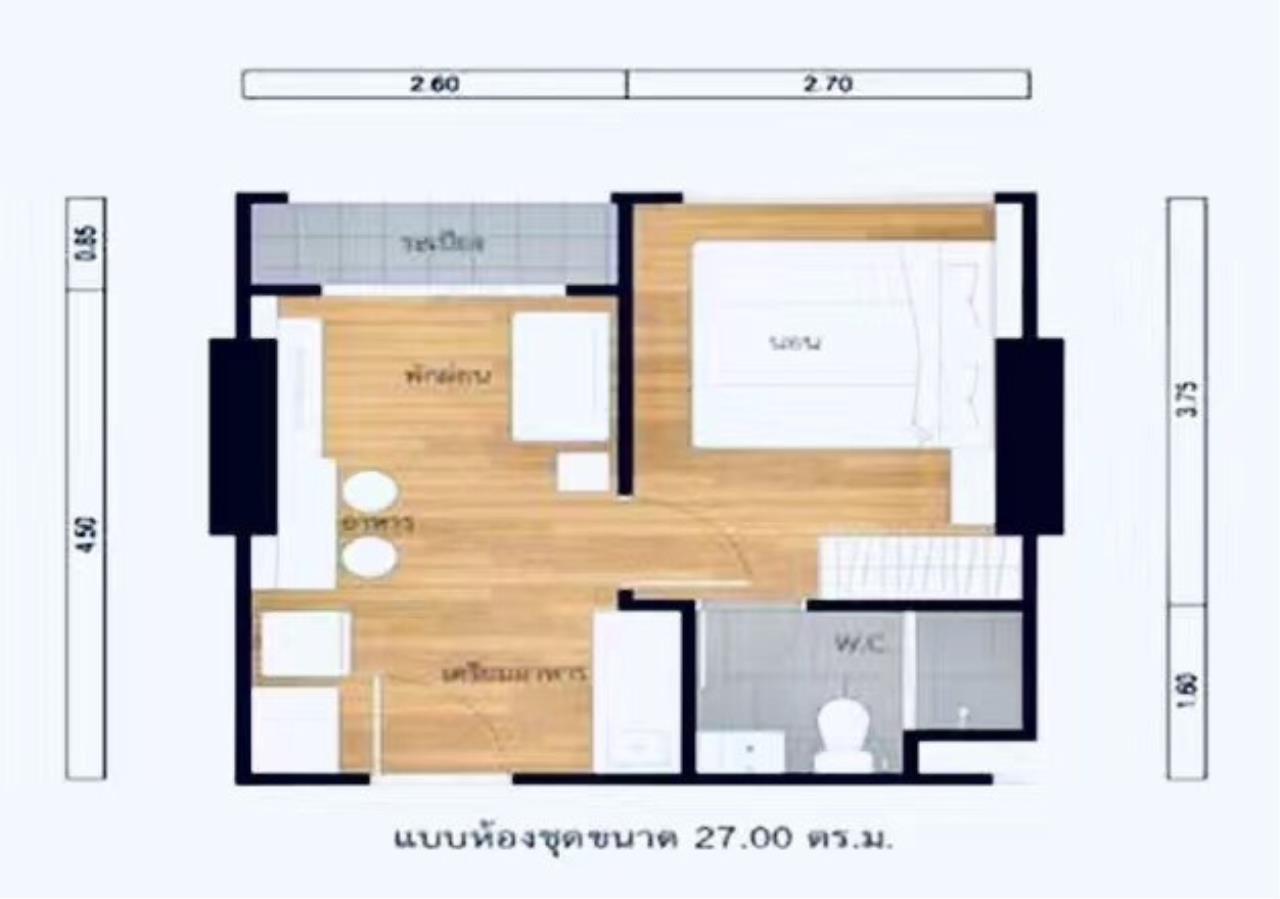 Century21 Skylux Agency's Lumpini Suite Phetchaburi-Makkasan / Condo For Sale / 1 Bedroom / 27 SQM / MRT Phetchaburi / Bangkok 6