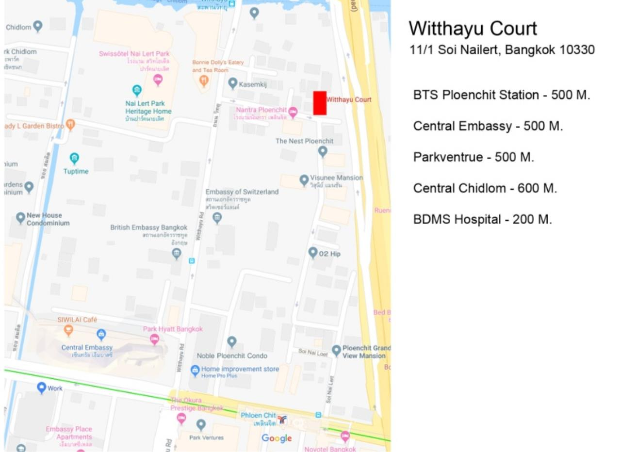 Century21 Skylux Agency's Witthayu Court / Apartment (Serviced) For Rent / 3 Bedroom / 170 SQM / BTS Phloen Chit / Bangkok 12