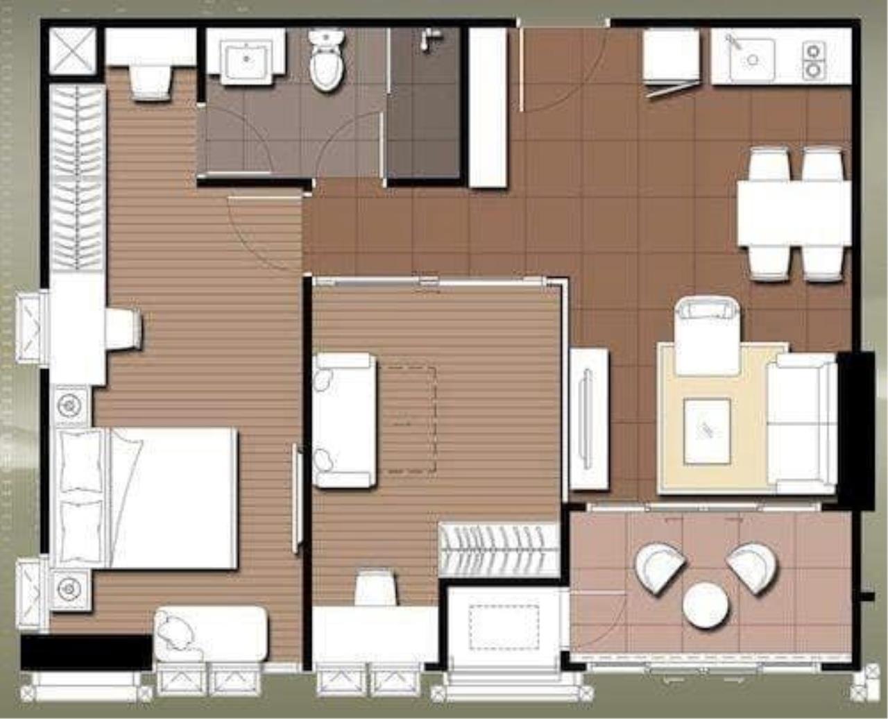 Century21 Skylux Agency's Ideo Verve Ratchaprarop / Condo For Sale / 2 Bedroom / 55 SQM / ARL Ratchaprarop / Bangkok 7