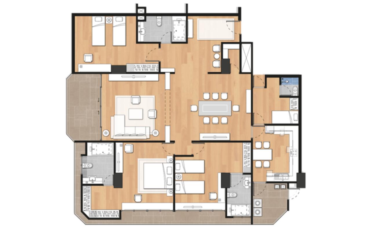 Century21 Skylux Agency's Sethiwan Palace Sukhumvit 4 / Apartment (Serviced) For Rent / 3 Bedroom / 250 SQM / BTS Nana / Bangkok 14