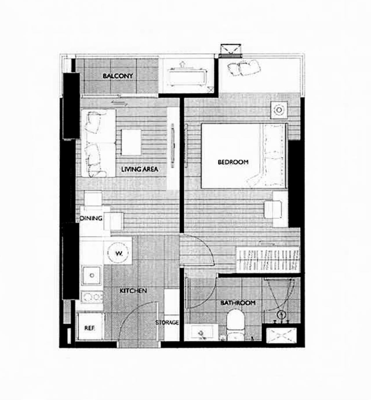 Century21 Skylux Agency's M Thonglor 10 / Condo For Rent / 1 Bedroom / 32 SQM / BTS Thong Lo / Bangkok 13