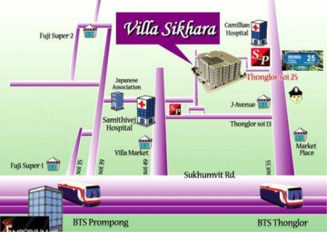 Century21 Skylux Agency's Villa Sikhara / Condo For Sale / 2 Bedroom / 128 SQM / BTS Phrom Phong / Bangkok 10