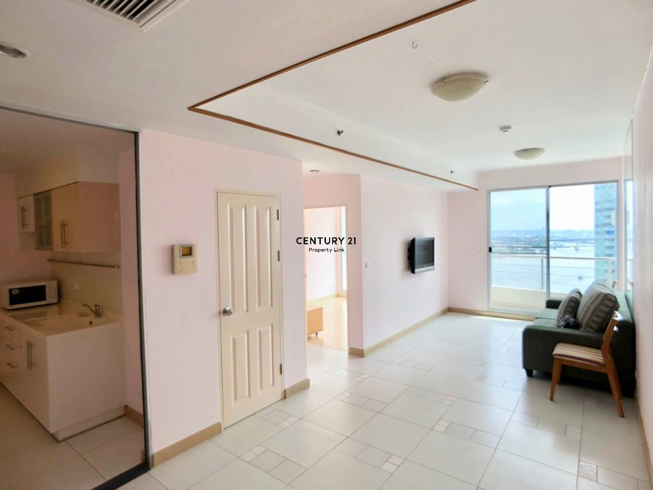 Century21 Property Link Agency's 38-CC-61335 Supalai River Place Condominium  High level view Chao Phraya River near BTS Krung Thon Buri  1